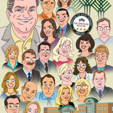 Ed Muransky: Southwoods Group Caricature
